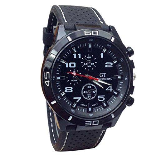 Oyedens Neue Quarzuhr MaeNner MilitaeRuhren Sport Armbanduhr Silikon Mode Stunden Weiss