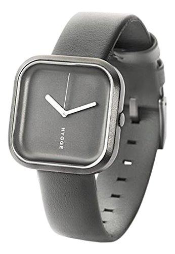 Hygge Unisex Armbanduhr Vaeri Stone Grey Analog Leder Grau HE 02 071