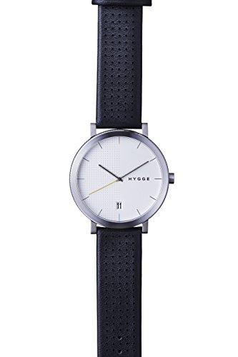 Hygge Unisex Armbanduhr 2203 Analog Leder Schwarz MSL2203C BK