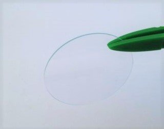 Flaches 35 mm grosses Mineralglas fuer Armbanduhren oder Taschenuhren 1 mm dick