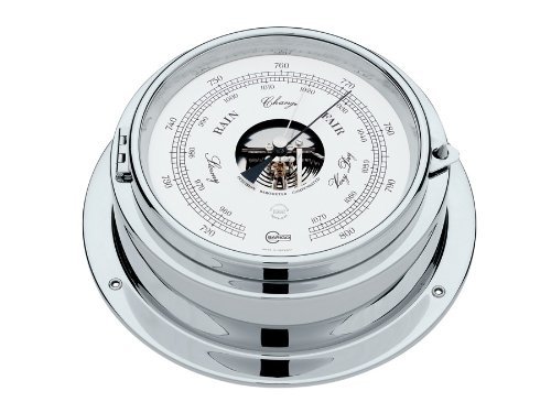 Barigo Marine Bullaugen Schiffsbarometer Doppeldose 1613CR