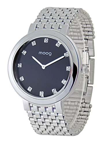 Moog Paris Caresse Silber aus Edelstahl Armband Silber aus Edelstahl in Frankreich hergestellt M46174 001