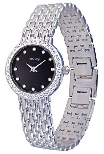 Moog Paris Vintage Silber aus Edelstahl Armband Silber aus Edelstahl in Frankreich hergestellt M48134 301