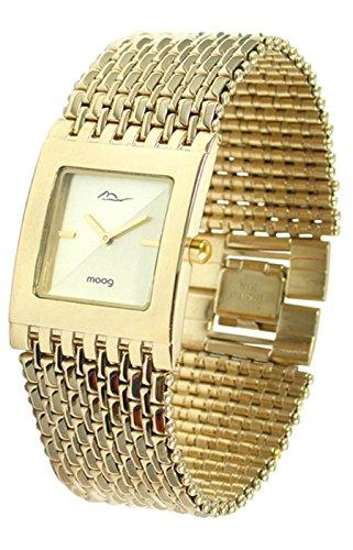 Moog Paris Luxury champagner Ziffernblatt Armband Gold aus Edelstahl in Frankreich hergestellt M46054F 003