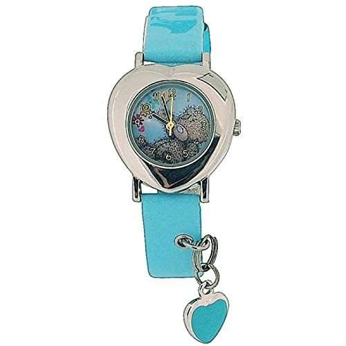 Maechenanaloguhr Me To You Tatty Teddy, blaues Armband mit Charm MTY3B
