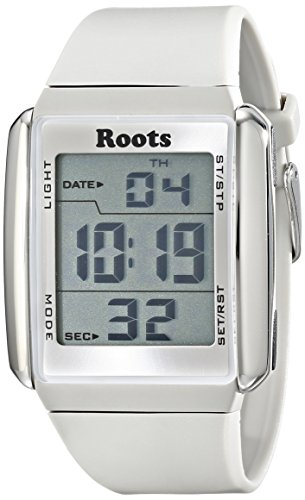 Wurzeln Herren 1r at104wh1 W Seymour Digital Display Quarz weiss Armbanduhr