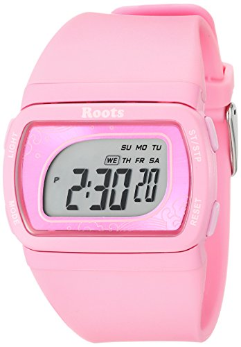 Wurzeln Damen 1r at401pi1p Flughafen Tofino Digital Display Quarz Rosa Armbanduhr