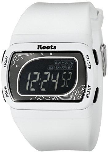 Wurzeln Damen 1r at401wh1 W Flughafen Tofino Digital Display Quarz weiss Armbanduhr