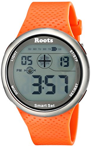 Wurzeln Herren 1r at404or1o Cove Digital Display Quarz orange Armbanduhr