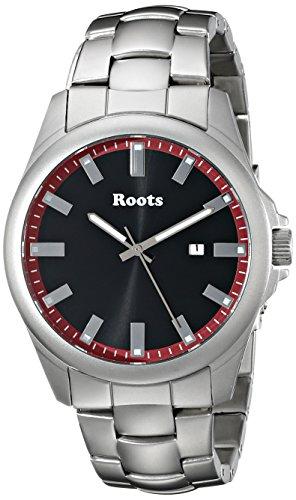 Wurzeln Herren 1r lf410re0 Kanu Analog Display Japanisches Quartz Silber Uhr