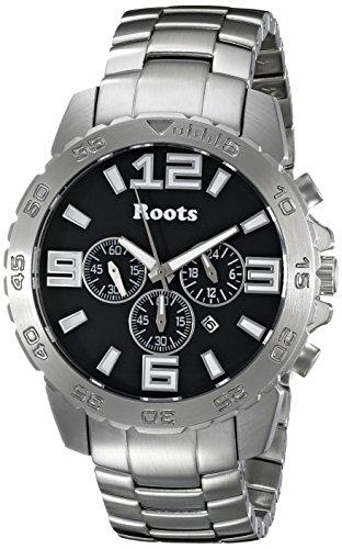 Wurzeln Herren 1r lf604ba0 nominigan Analog Display Japanisches Quartz Silber Uhr