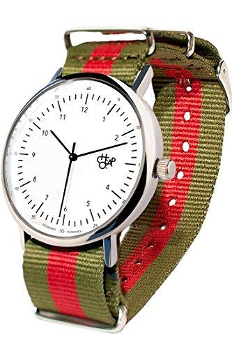 Cheapo 14224 GG Harold gruen rot weiss Armbanduhr