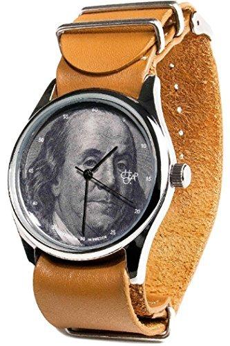 Cheapo 14227DD Unisex Edelstahl Lederband Silber Zifferblatt Cheapo Uhr
