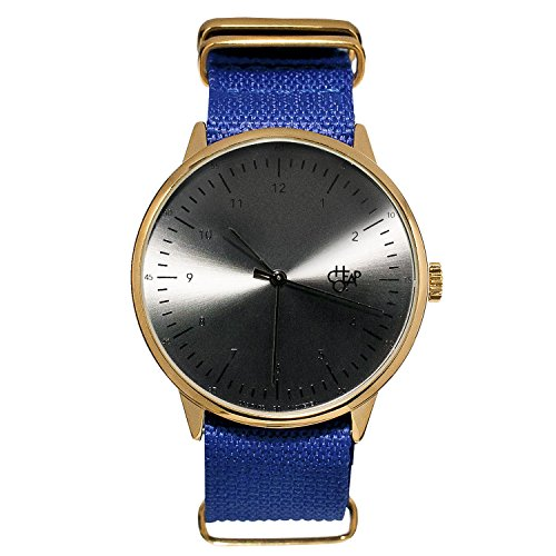 Cheapo Harold Royal Blau Schwarz Armbanduhr w Nylon Gurt