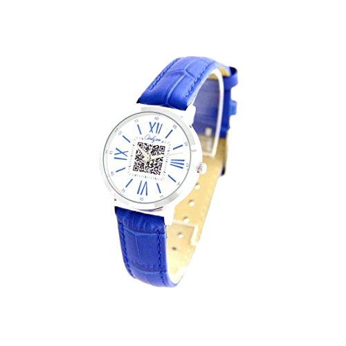 Damen Armbanduhr Leder blau Fantasie Onlyou 1782