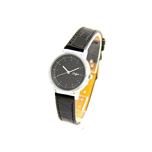 Damen Fantasie Armbanduhr Leder schwarz Onlyou 2956