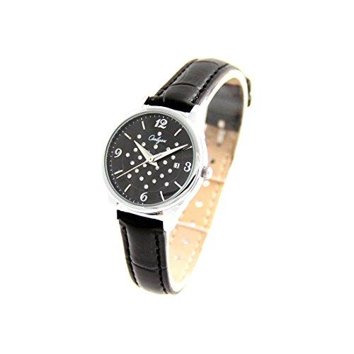 Damen Fantasie Armbanduhr Leder schwarz Onlyou 2292