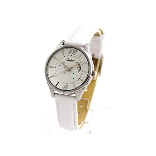 Damen Originelle Armbanduhr Leder weiss Onlyou Etoiles 769