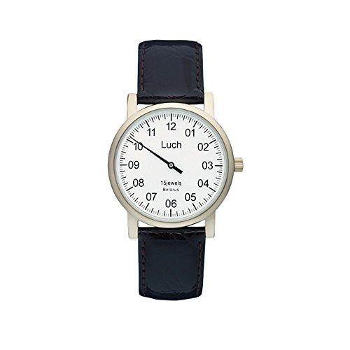 Single Hand Mittagessen Mechanische Armbanduhr Weiss Zifferblatt zirconiumnitrid 337477760