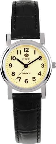 Royal London Damen-Armbanduhr Analog leder schwarz 20000-03