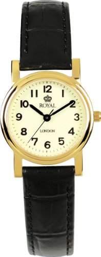 Royal London Damen-Armbanduhr Analog leder schwarz 20000-04