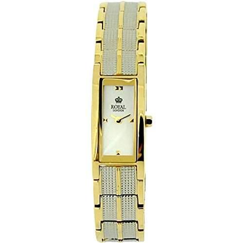Royal London vergoldete Damen Stahlarmbanduhr 21122-05