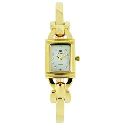 Royal London vergoldete MOP Damen Stahlarmbanduhr 21162-02