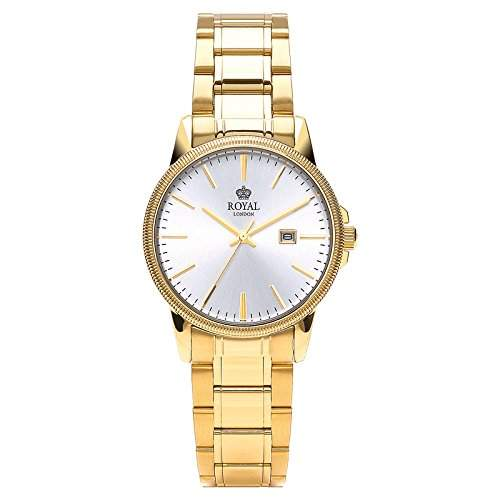 Royal London Ladies Classic Damen-Armbanduhr Edelstahl analog Datum 21198-06
