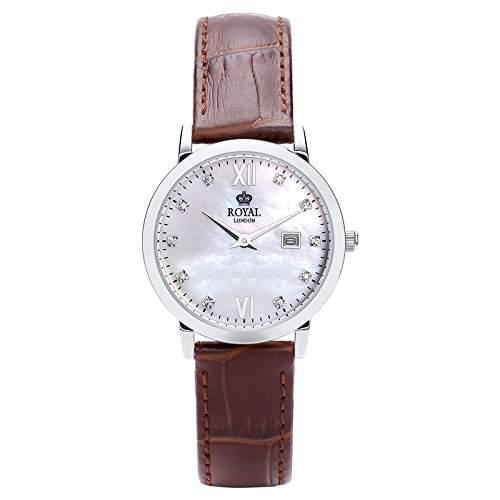 Royal London Ladies Classic Damen-Armbanduhr Edelstahl analog Datum 21199-02