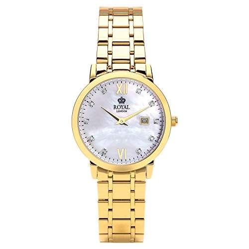Royal London Ladies Classic Damen-Armbanduhr Edelstahl analog 21199-07