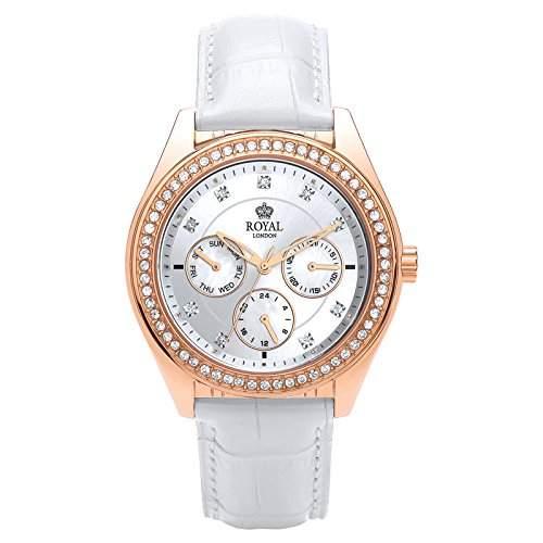 Royal London Ladies Multi-Function Damen-Armbanduhr analog Multifunktion weiss 21211-04
