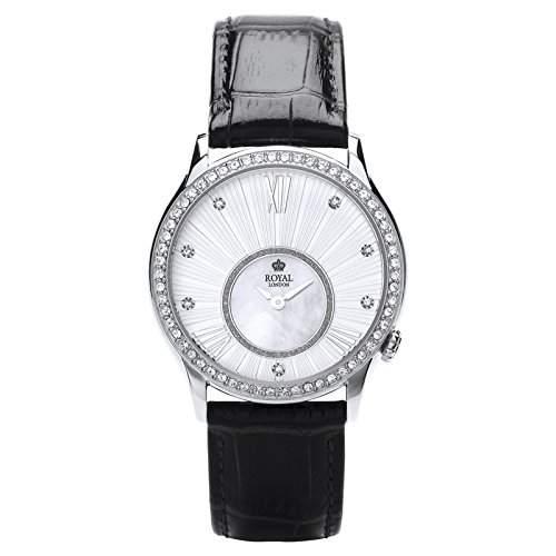 Royal London Ladies Fashion Damen-Armbanduhr analog Lederarmband 21284-02