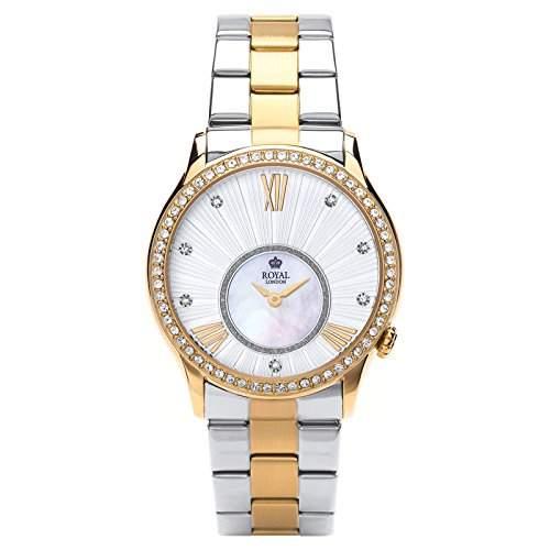 Royal London Ladies Fashion Damen-Armbanduhr analog Silber-Perlmutt 21284-08