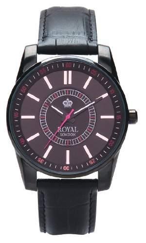 Royal London Herren-Armbanduhr Analog Quarz Leder 40121-03