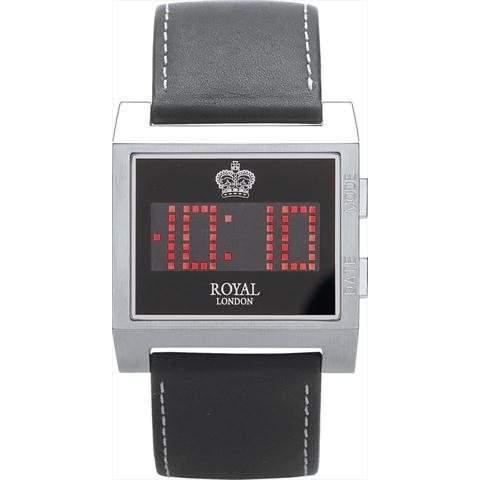 Royal London digitale Herren Datumsuhr The Ace, Lederarmband, 41057-01
