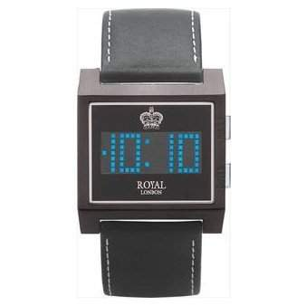 Royal London digitale Herren Datumsuhr The Ace, Lederarmband, 41057-03