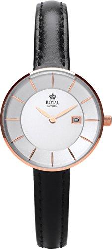 Royal London Ladies Fashion Quarz Silber Datum Lederband 21321 05