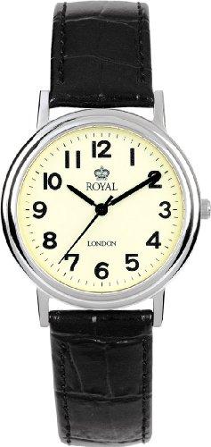 Royal London Analog leder schwarz 40000 03