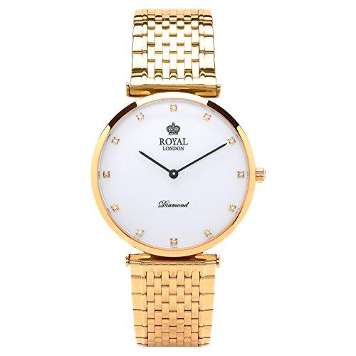 Royal London Gents Classic Diamanten Quarz 41340 05