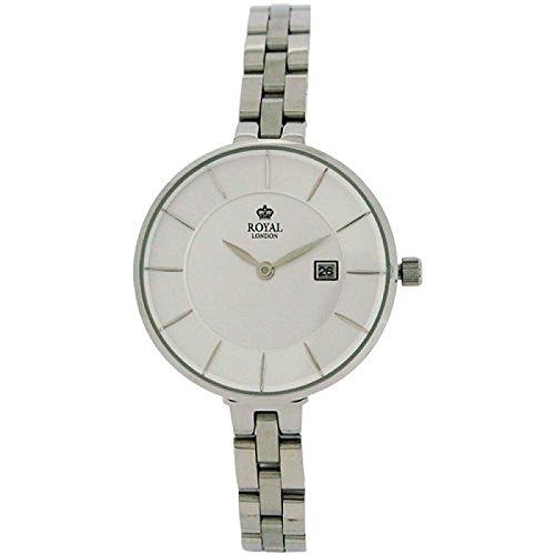 Royal London Silber Zifferblatt Datum alle Edelstahl Armband Armbanduhr 21321 06