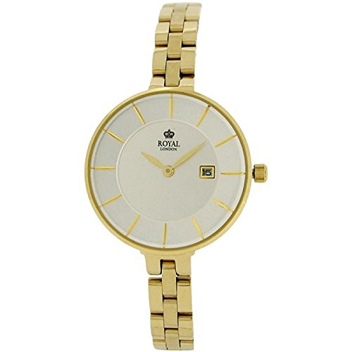 Royal London Silber Zifferblatt Datum alle Edelstahl Armband Armbanduhr 21321 07