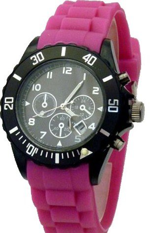Hot Watch Chrono Style Uhr Pink W55