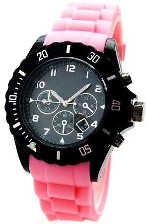 NERD Uhr Chrono Rosa Uhr Armbanduhr