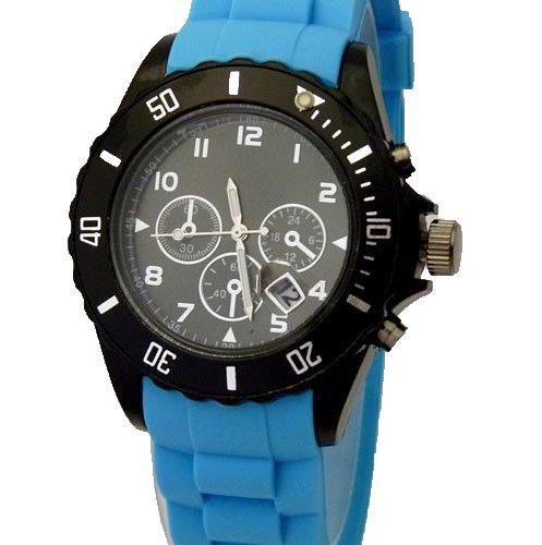 Hot Watch Chrono Style Hellblau W 49