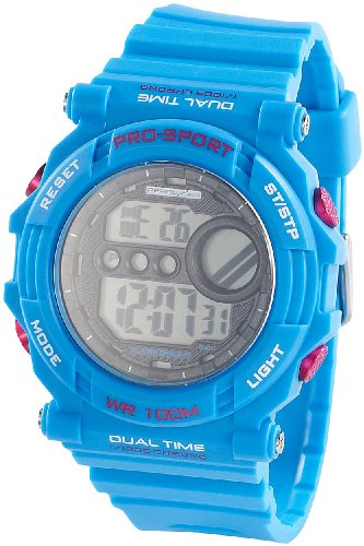 PEARL sports Digitale Armbanduhr mit Stoppuhr blau