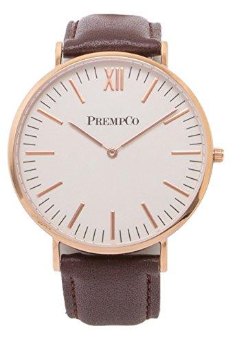 PrempCo Nobel Herren Armbanduhr Schwarz Rosegold Schnell wechsel Uhren Armband