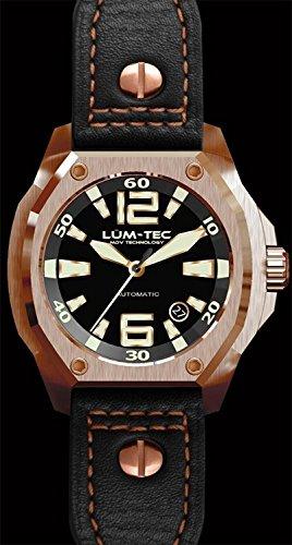 Lum Tec LTV4 schwarze Synthetik Band leuchtende rosafarbene automatische automatische Uhr