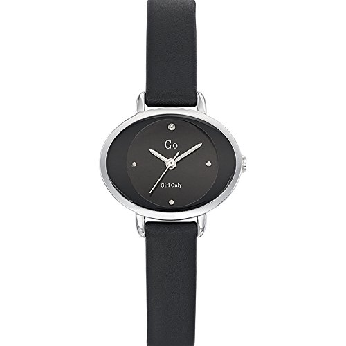 GB 698926 Quarz Analog Zifferblatt schwarz Armband Leder schwarz