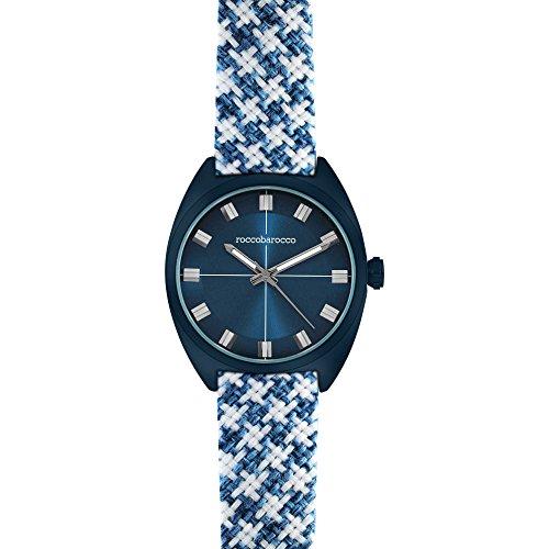 Uhr nur Zeit Unisex Roccobarocco Pied de Poule Trendy Cod rb0084