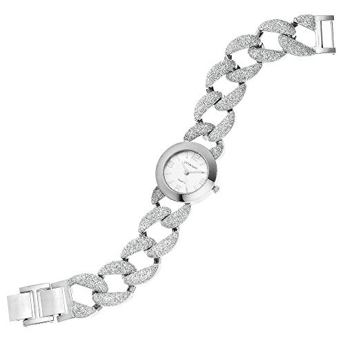Ottaviani Damen Uhr mit Gliederarmband Glitzer 15221